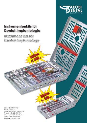 Instrument kit for implantology