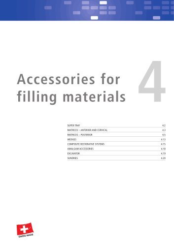 Accessories for Filling Materials