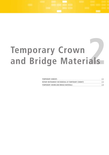 Temporary Crown and Bridge Materials