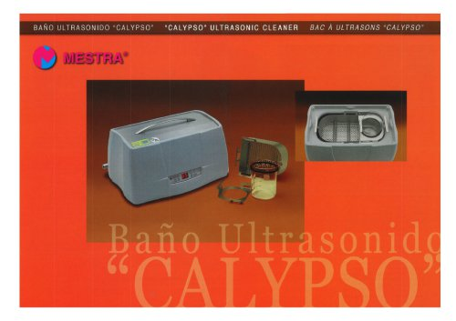 """CALYPSO"" ULTRASONIC CLEANER"