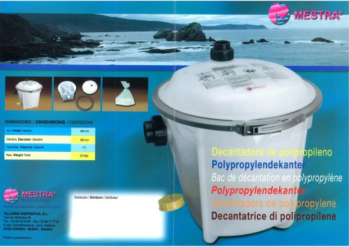 POLYPROPYLENE DECANTER