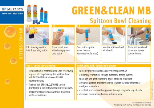 GREEN&CLEAN MB Spittoon Bowl Cleaning