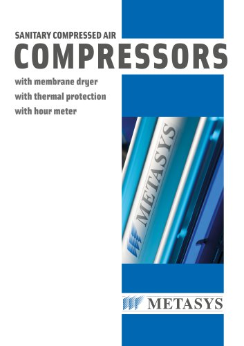 SANITARY COMPRESSED AIR Compressors