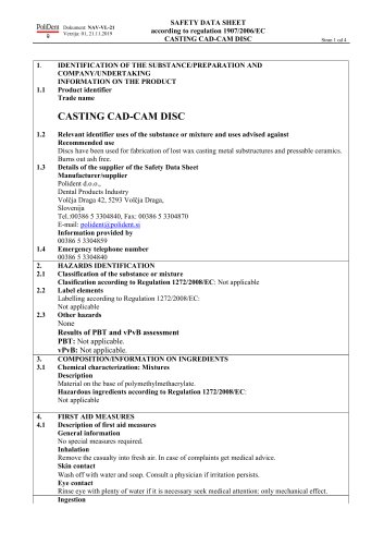 CASTING CAD-CAM DISC