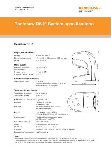 DS10 system specifications