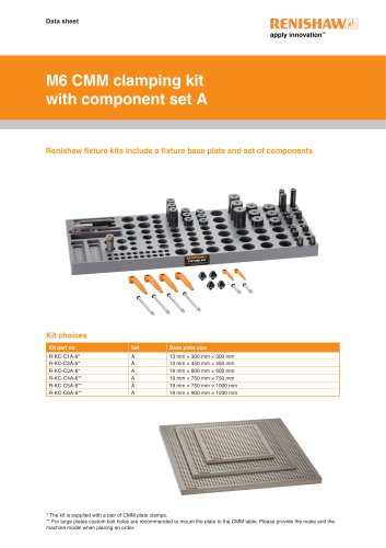 M6 CMM clamping kit