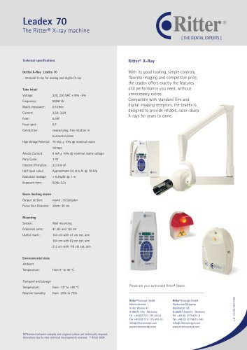 Leadex 70 The Ritter® X-ray machine