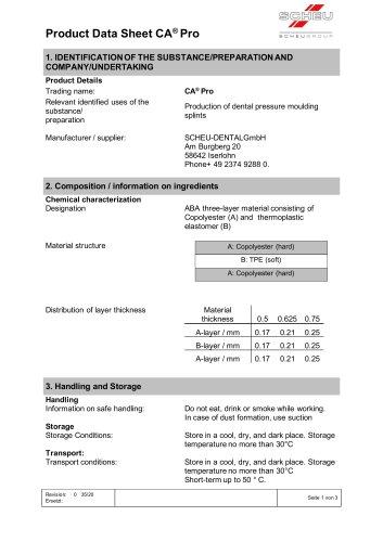 Product Data Sheet CA® Pro
