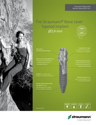 The Straumann® Bone Level      Tapered Implan