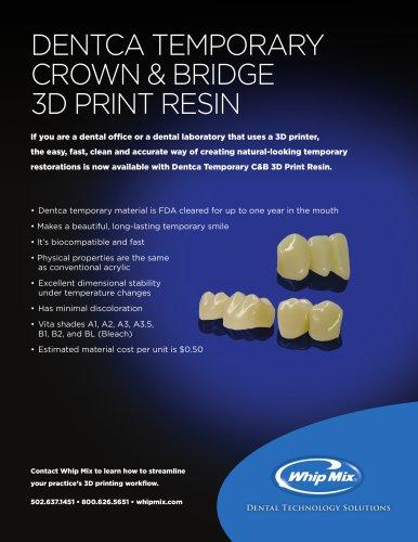 DENTCA TEMPORARY CROWN & BRIDGE 3D PRINT RESIN