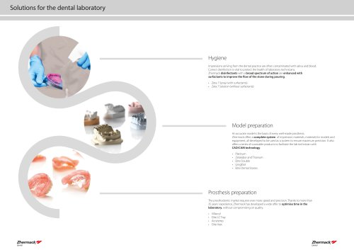 Solutions for the dental laboratory