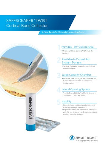 SAFESCRAPER™ TWIST Cortical Bone Collector