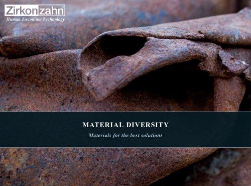 Brochure Material diversity