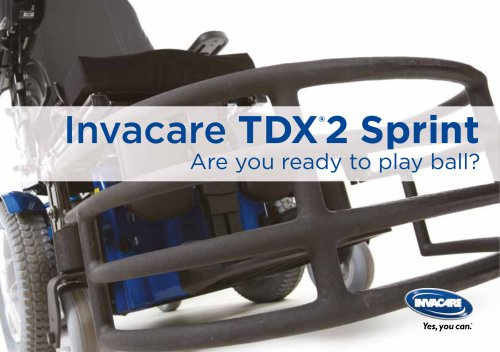 INVACARE - TDX2 SPRINT - BROCHURE - SPORTS - POWERWHEELCHAIR