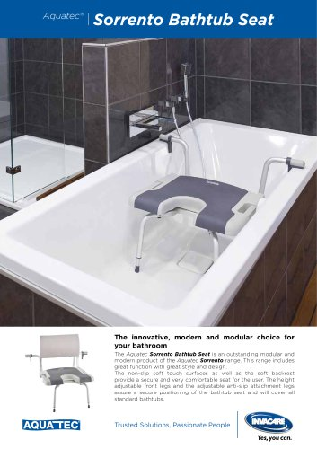 SORRENTO BATHTUB SEAT