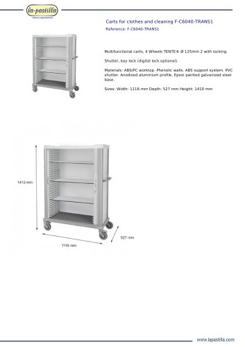 CARTS FOR CLOTHES AND CLEANING F-C6040-TRANS1