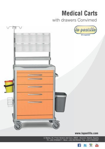 Catalog Hospital Carts Drawers Convimed