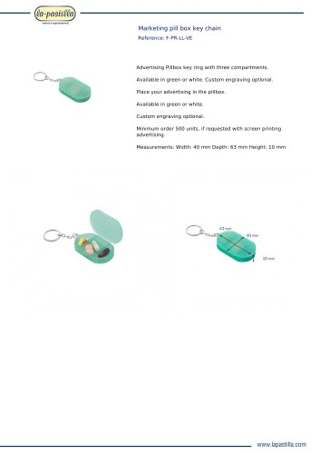MARKETING PILL BOX KEY CHAIN