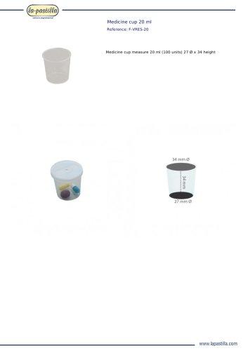 MEDICINE CUP 20 ML