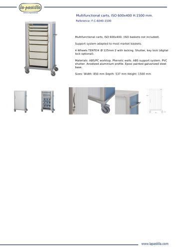MULTIFUNCTIONAL CARTS, ISO 600X400 H.1500 MM.