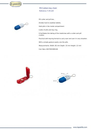 PILL CUTTERS KEY CHAIN