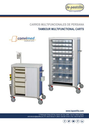 Tambour Multifunctional Carts Convimed