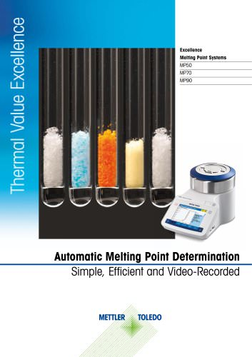 Excellence Melting Point Systems