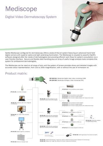Data sheet, Optilia Video Dermatoscope