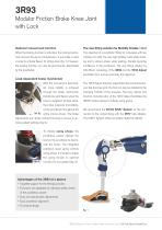 3R93 Modular Friction Brake Knee Joint with Lock - 3
