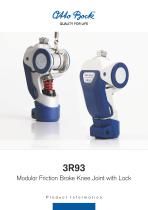 3R93 Modular Friction Brake Knee Joint with Lock