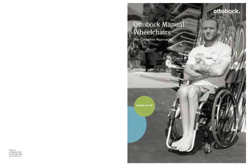 Ottobock Manual Wheelchairs The Complete Approach