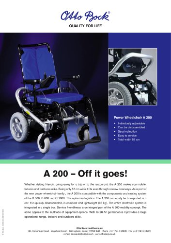 Power Wheelchair A 200