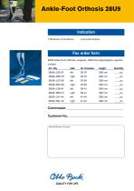 Product information | Ankle-Foot Orthosis 28U9 - 2