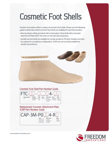 Cosmetic Foot Shells