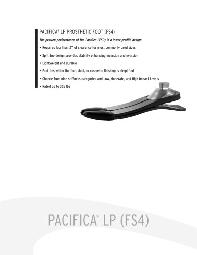 PACIFICA® LP PROSTHETIC FOOT (FS4)