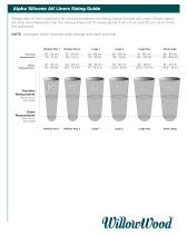 Alpha ® Silicone AK Liners Sizing Guide