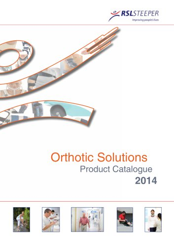 Orthotic Solutions Catalogue 2014