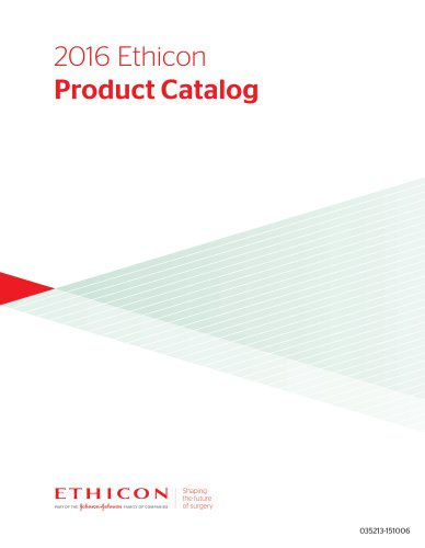2016 Ethicon Product Catalog