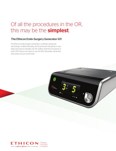 The Ethicon Endo-Surgery Generator G11