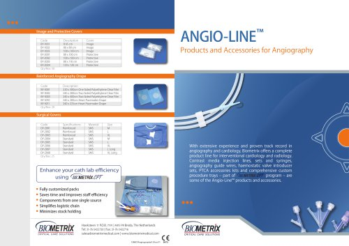 Angio line Product Accessories