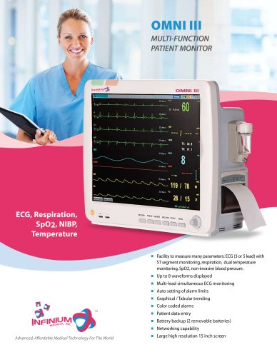 OMNI III  MULTI-FUNCTION PATIENT MONITOR