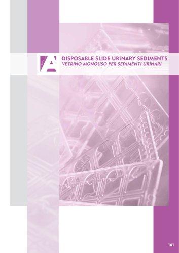 Disposable slide urinary sediments