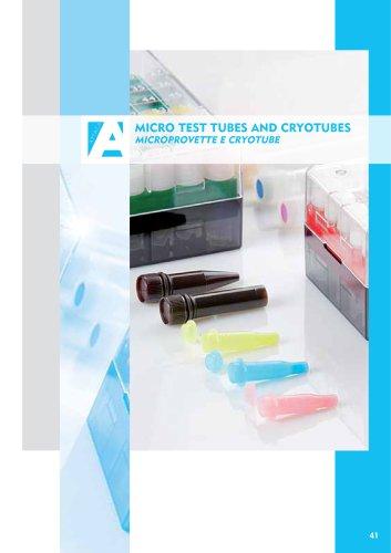 Micro tubes and cryotubes