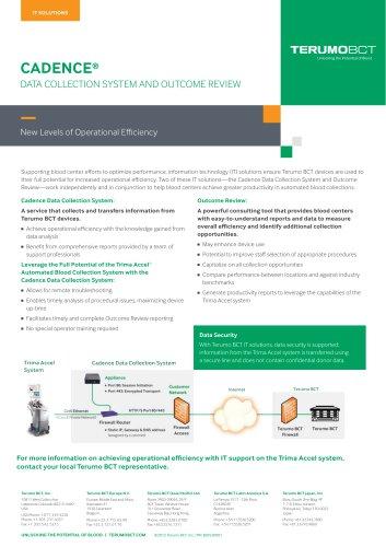 Cadence® - Terumo BCT - PDF Catalogs | Technical Documentation