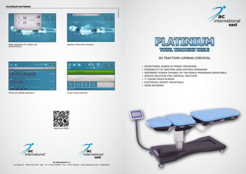 PLATINIUM 3D TRACTION TABLE