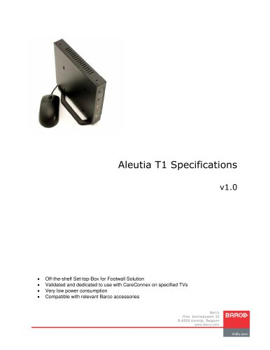 Aleutia T1 Specifications