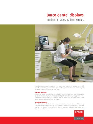 Barco dental displays