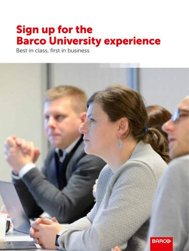 Sign up for the Barco University experience