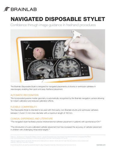 NAVIGATED DISPOSABLE STYLET