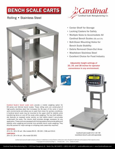 BENCH SCALE CARTS